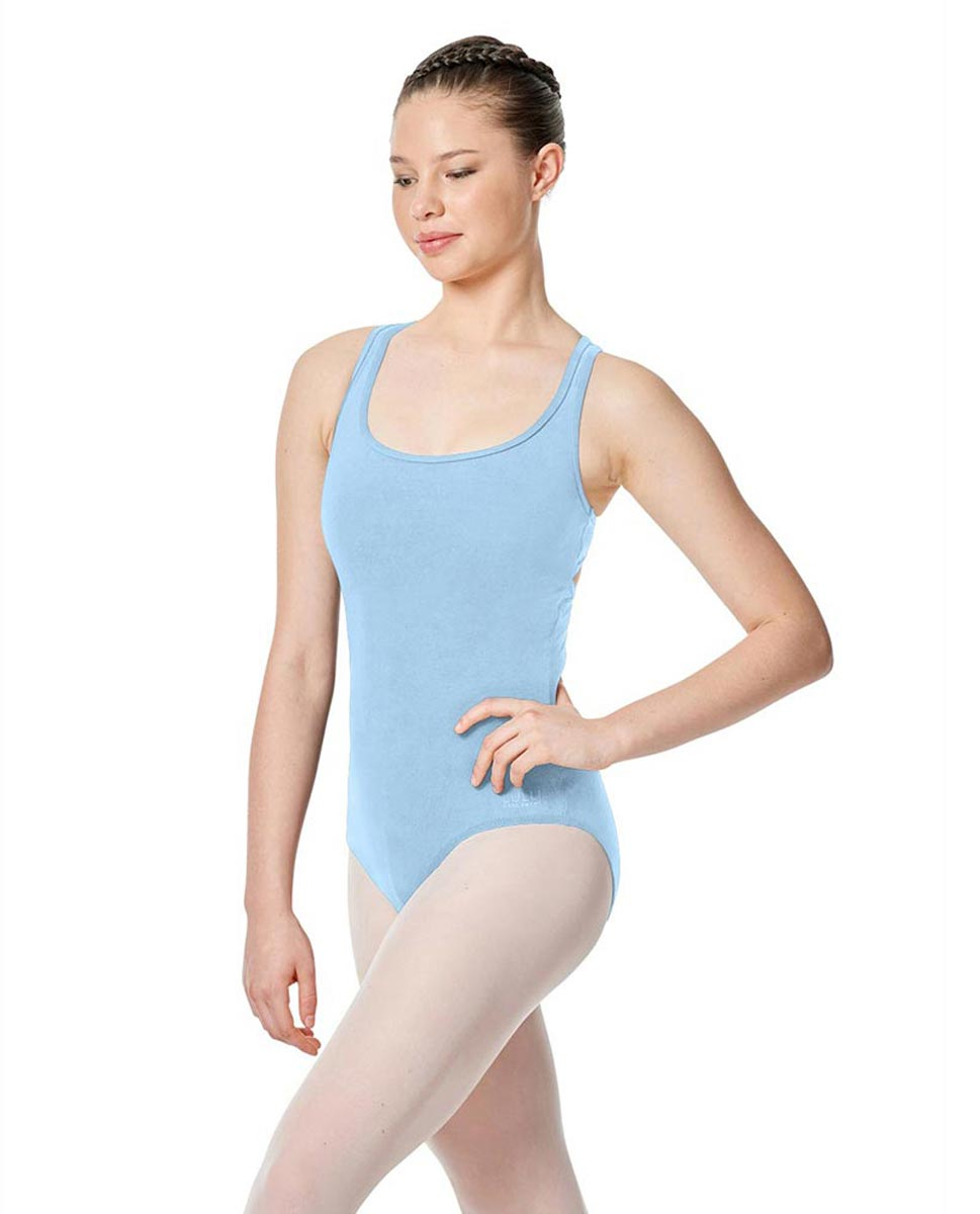 Twist Back Dance Leotard Stella SKY