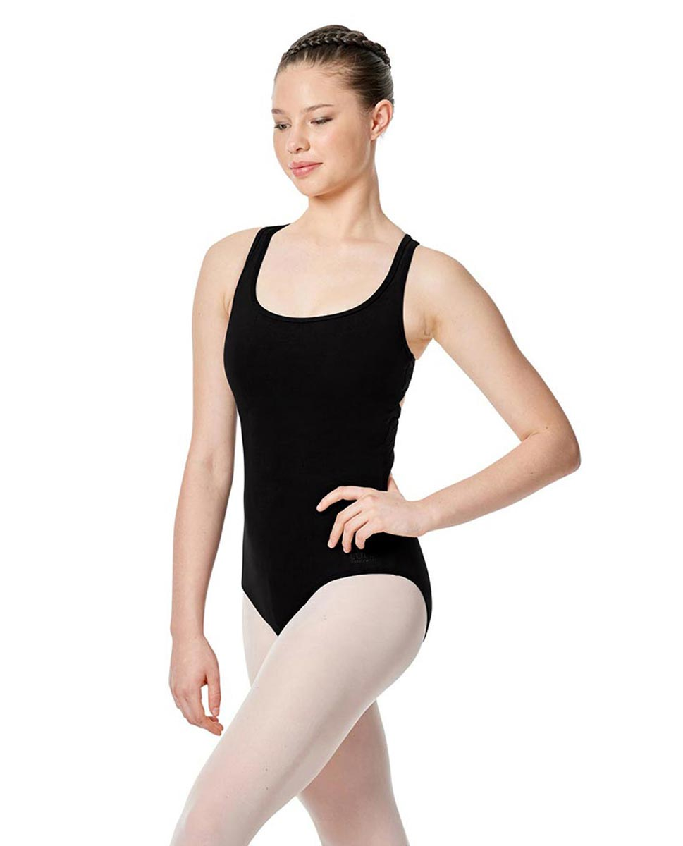Twist Back Dance Leotard Stella BLK