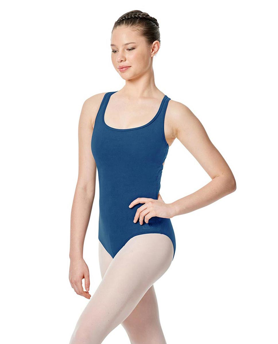 Twist Back Dance Leotard Stella BLUE
