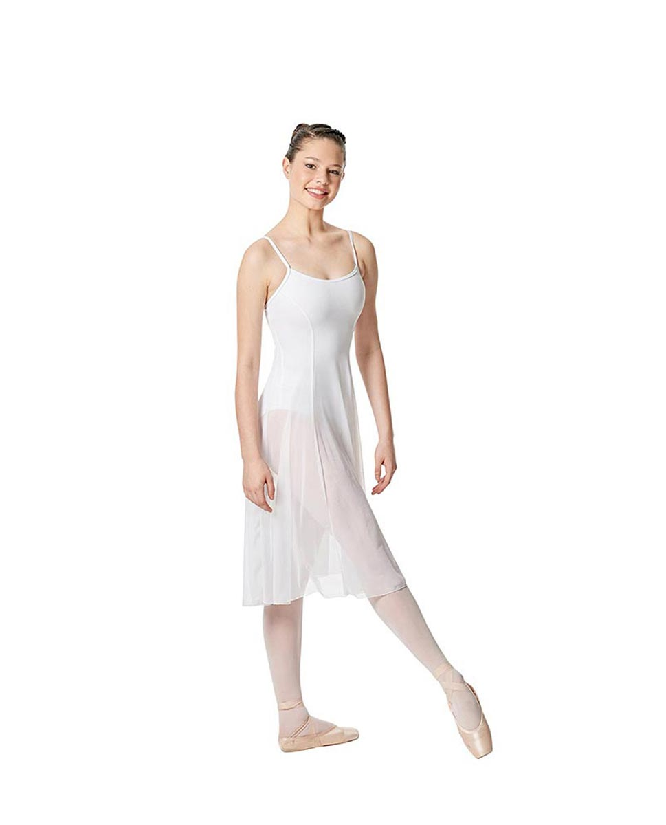 Camisole Long Ballet Dress Leotard Claire WHI