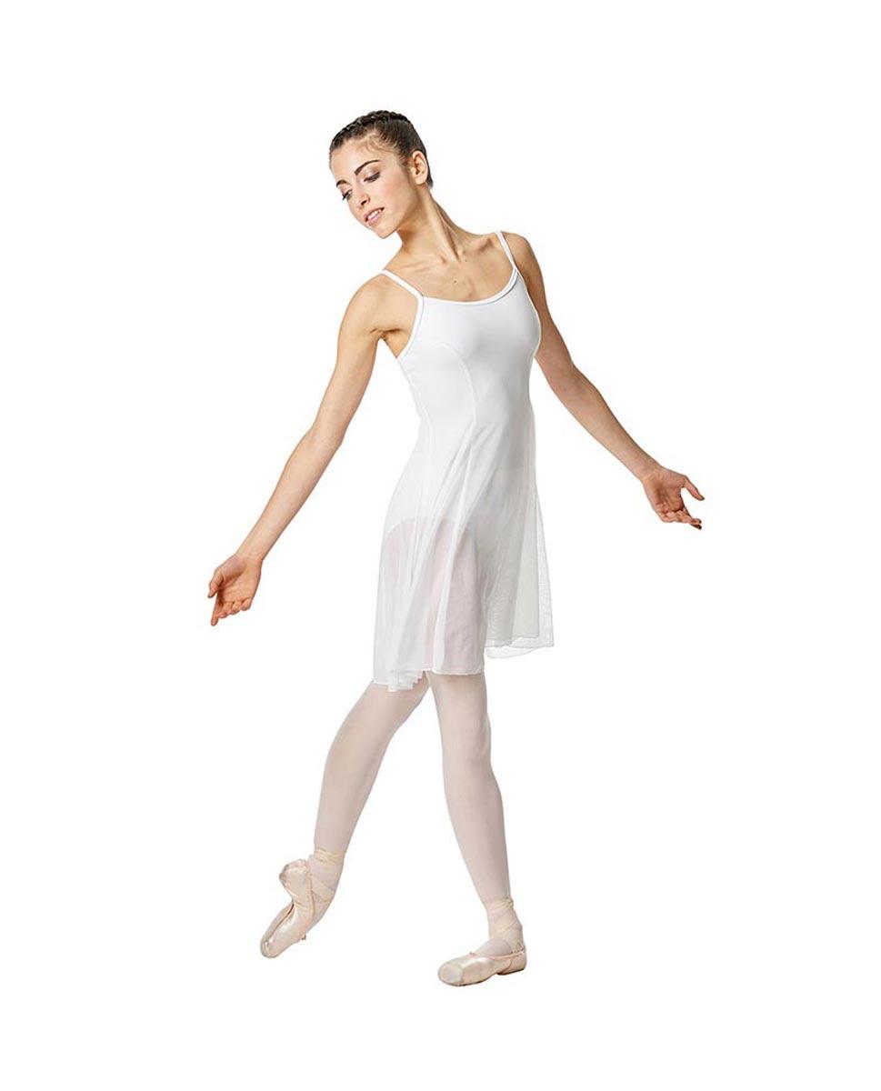 Womens Camisole Mesh Ballet Dress Leotard Natalie WHI