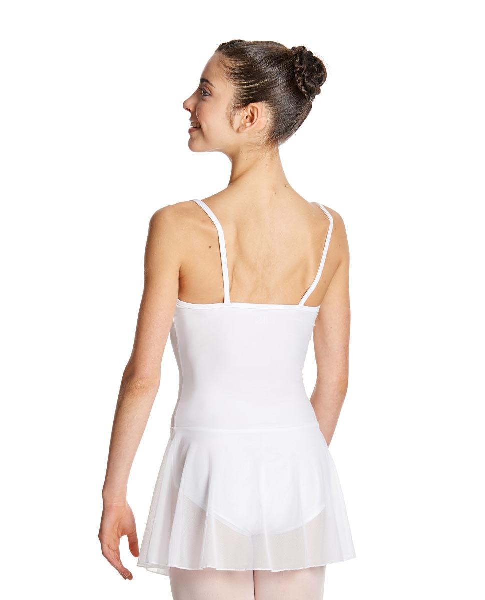 Womens Camisole Mesh Ballet Skirted Leotard Lillian back