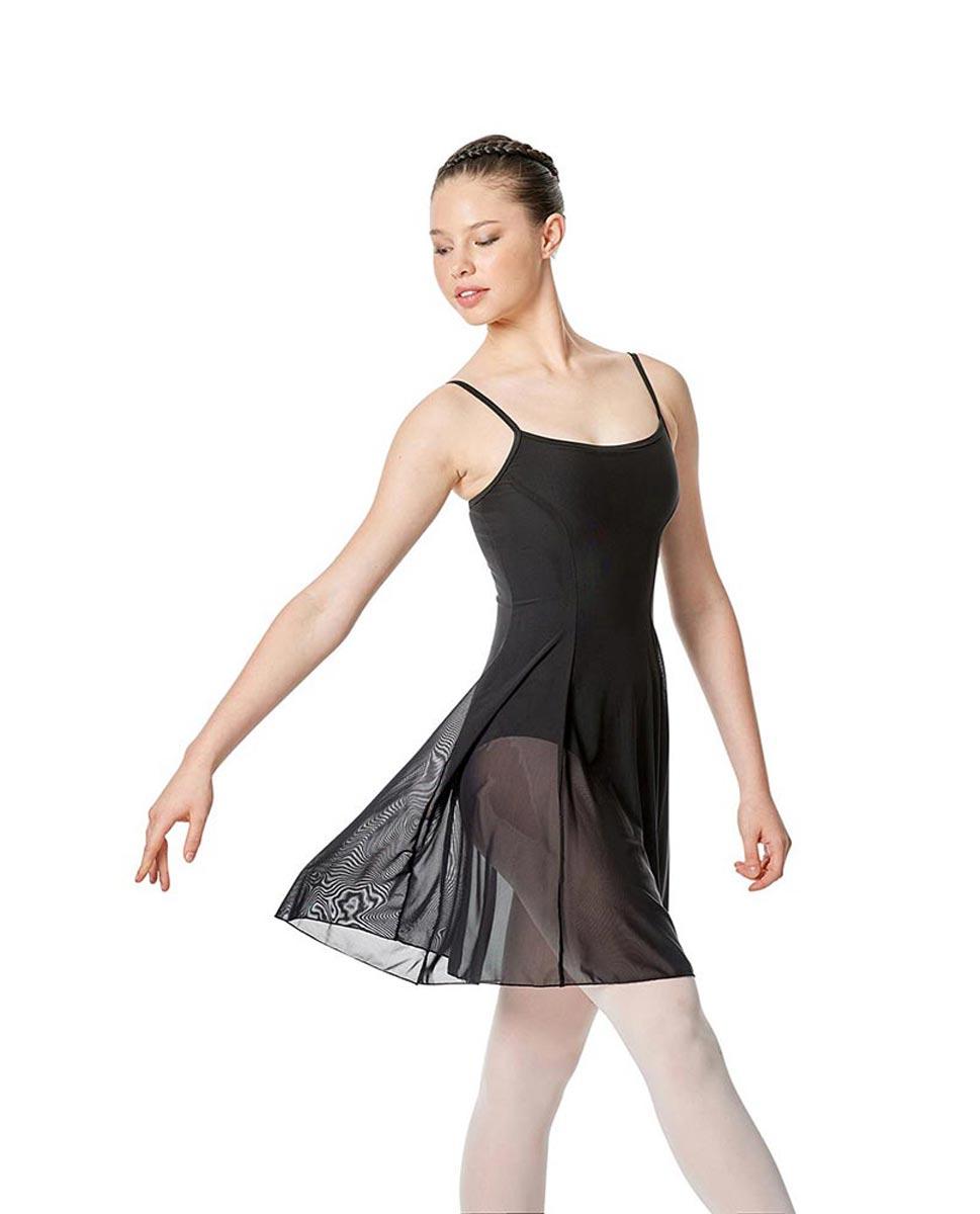 Womens Camisole Mesh Ballet Dress Leotard Natalie BLK