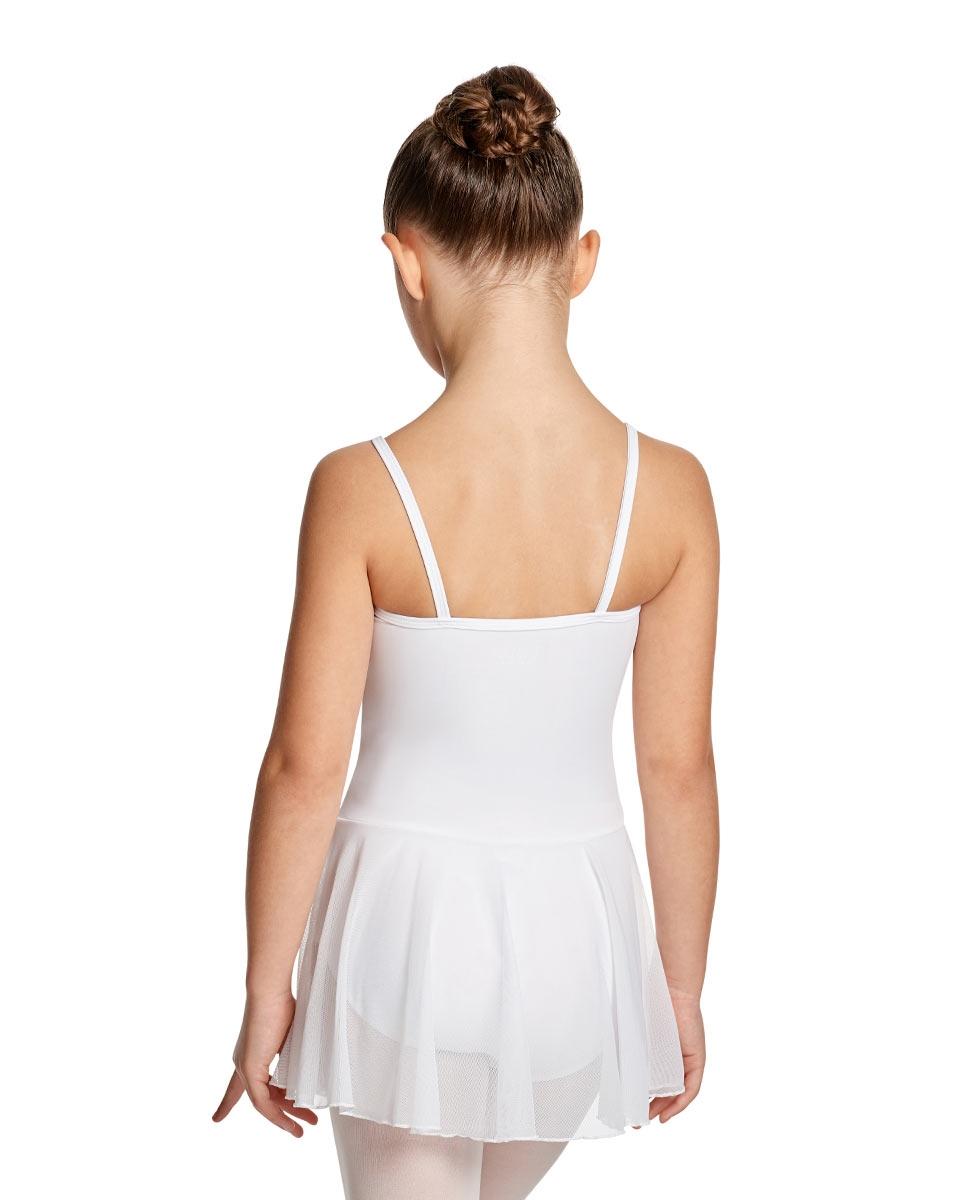 Girls Camisole Ballet Mesh Skirted Leotard Lillian back