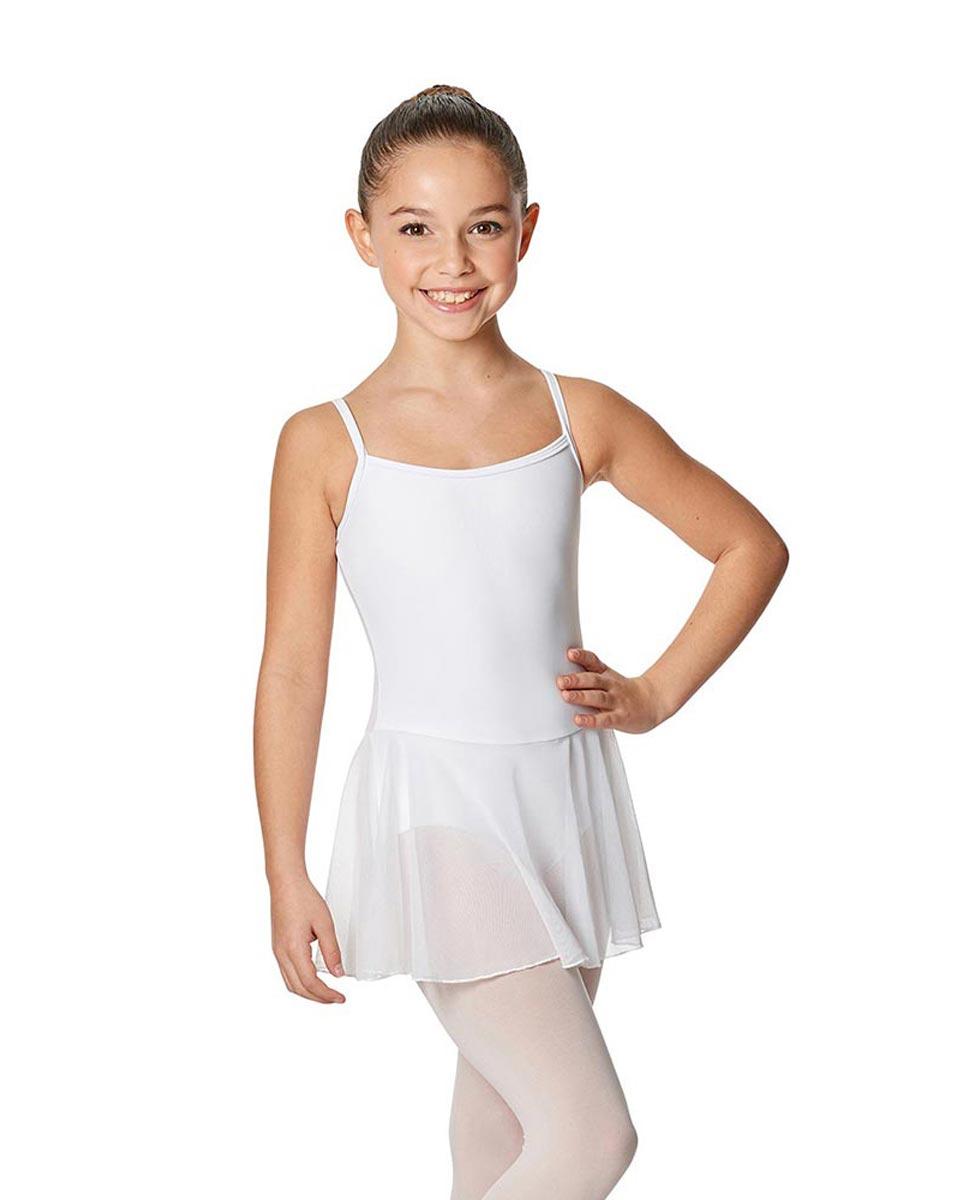 Girls Camisole Ballet Mesh Skirted Leotard Lillian WHI