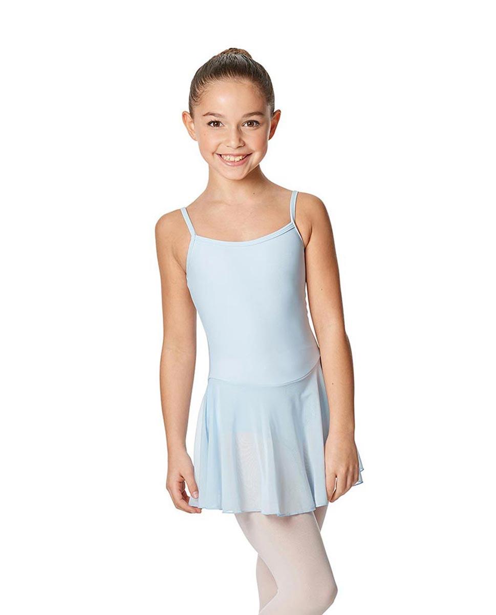 Girls Camisole Ballet Mesh Skirted Leotard Lillian SKY