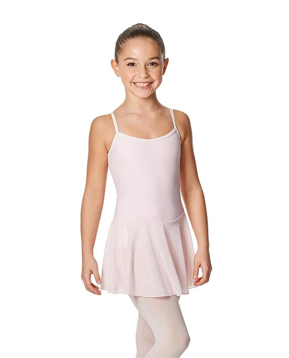 Girls Camisole Ballet Mesh Skirted Leotard Lillian PNK
