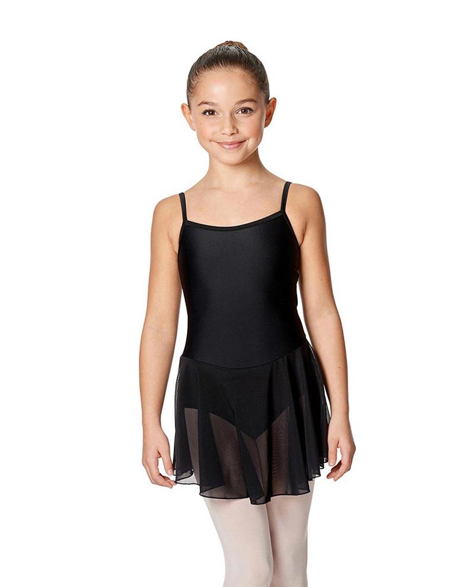 Girls Camisole Ballet Mesh Skirted Leotard Lillian BLK