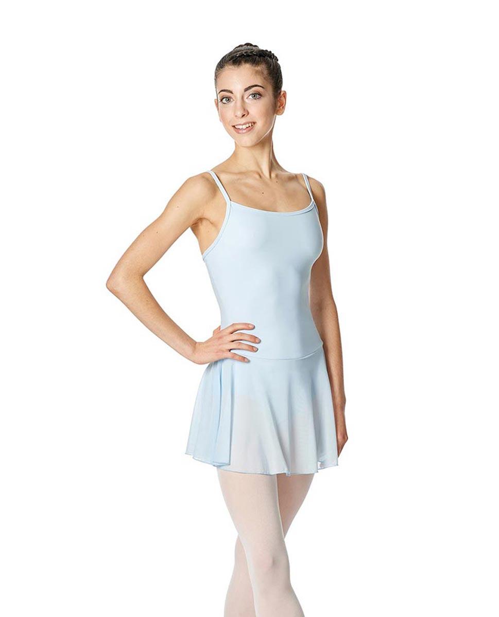 Womens Camisole Mesh Ballet Skirted Leotard Lillian SKY