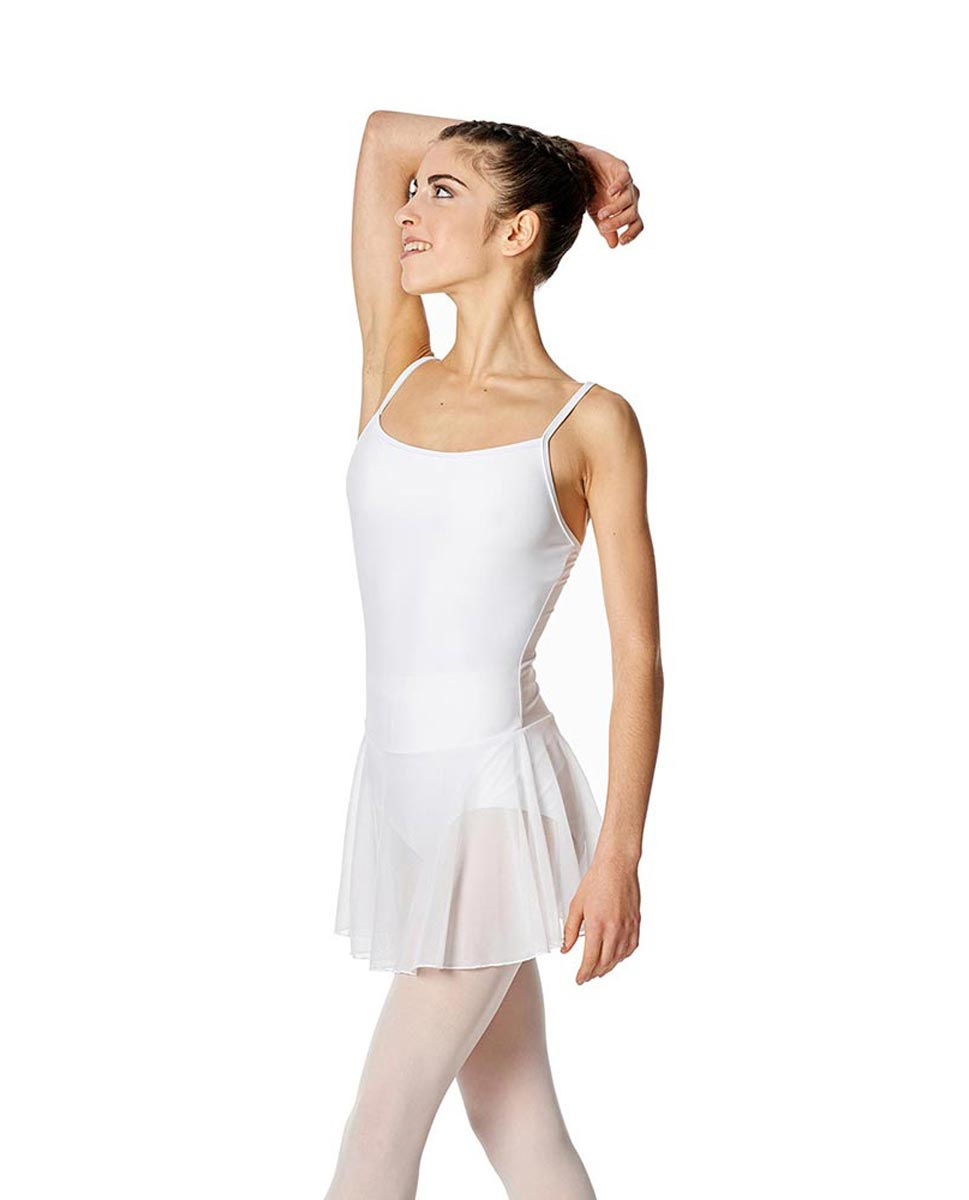 Womens Camisole Mesh Ballet Skirted Leotard Lillian WHI