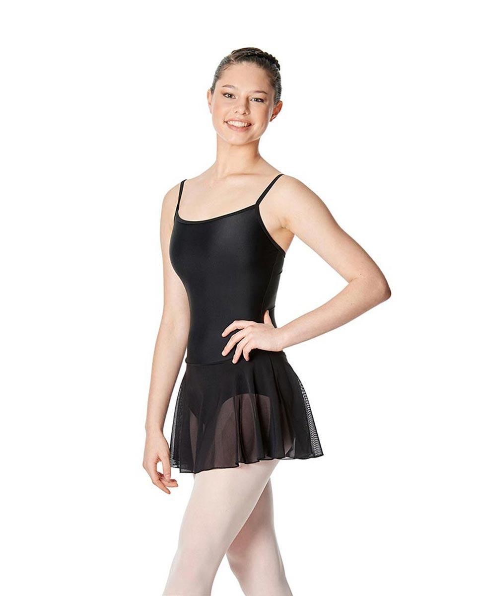Womens Camisole Mesh Ballet Skirted Leotard Lillian BLK