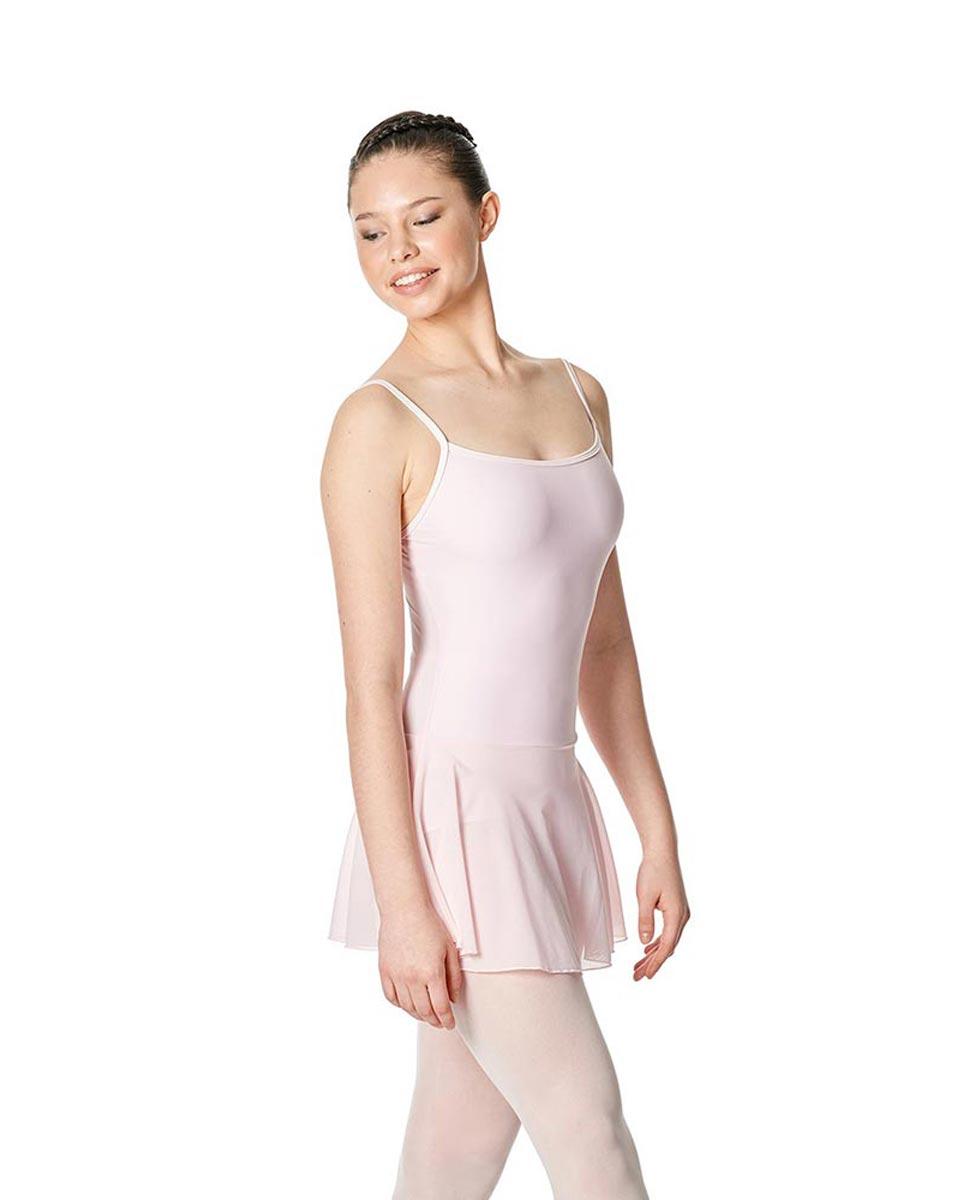 Womens Camisole Mesh Ballet Skirted Leotard Lillian PNK