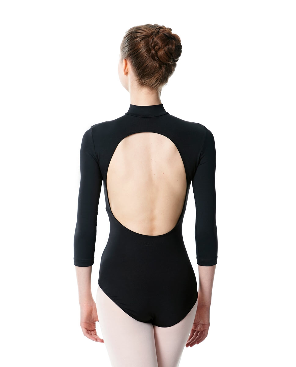 Long Sleeve Zipper Dance Leotard Eliana back