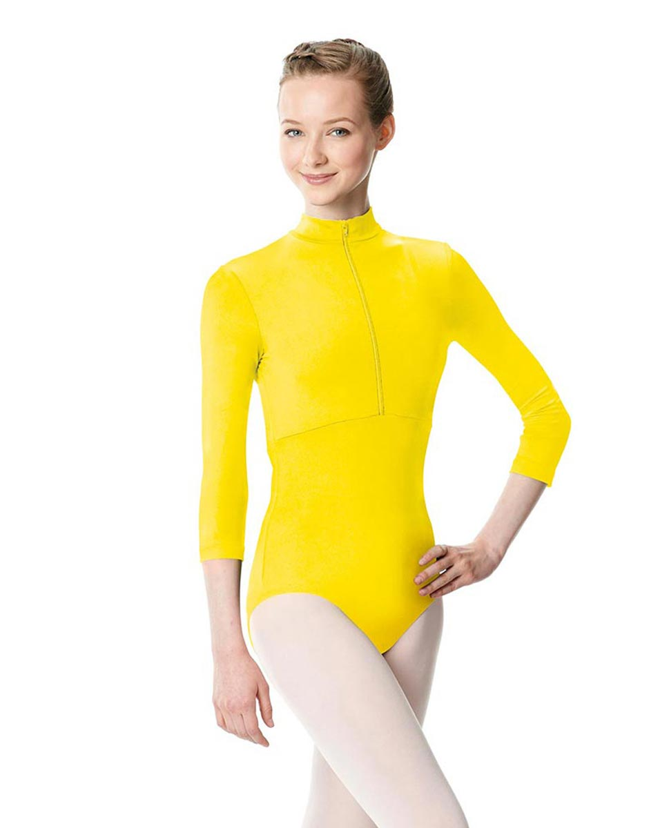 Long Sleeve Zipper Dance Leotard Eliana YEL