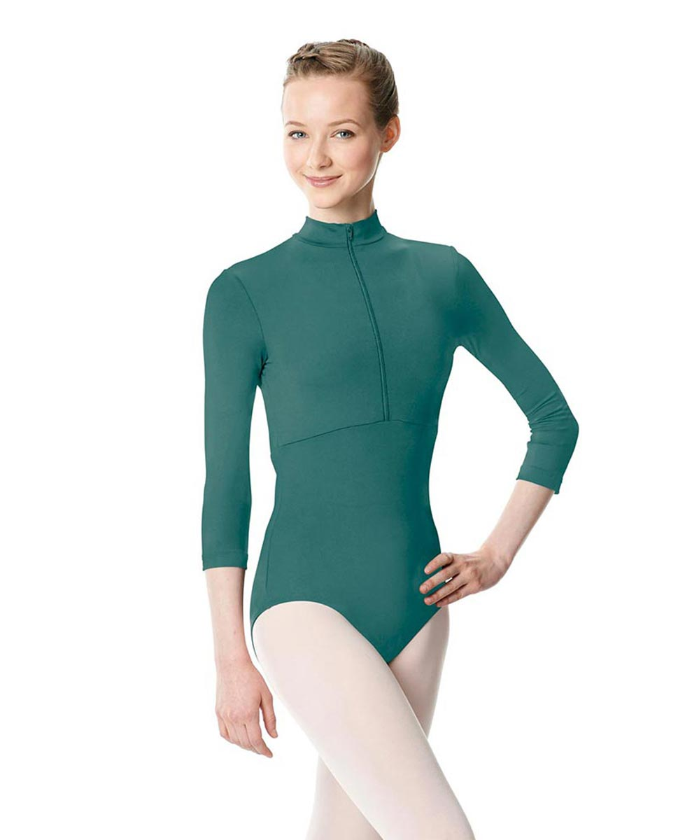 Long Sleeve Zipper Dance Leotard Eliana TEA