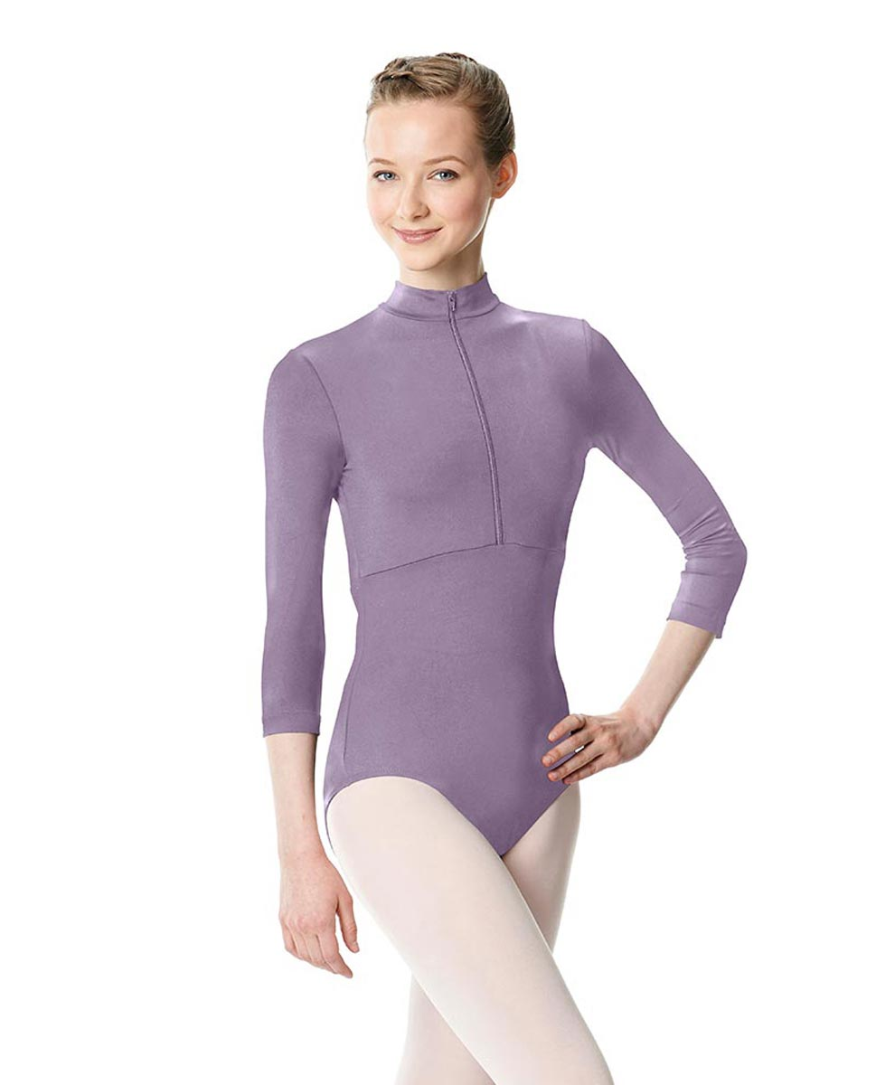 Long Sleeve Zipper Dance Leotard Eliana LAV