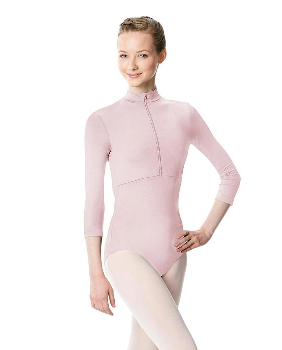 Long Sleeve Zipper Dance Leotard Eliana PNK