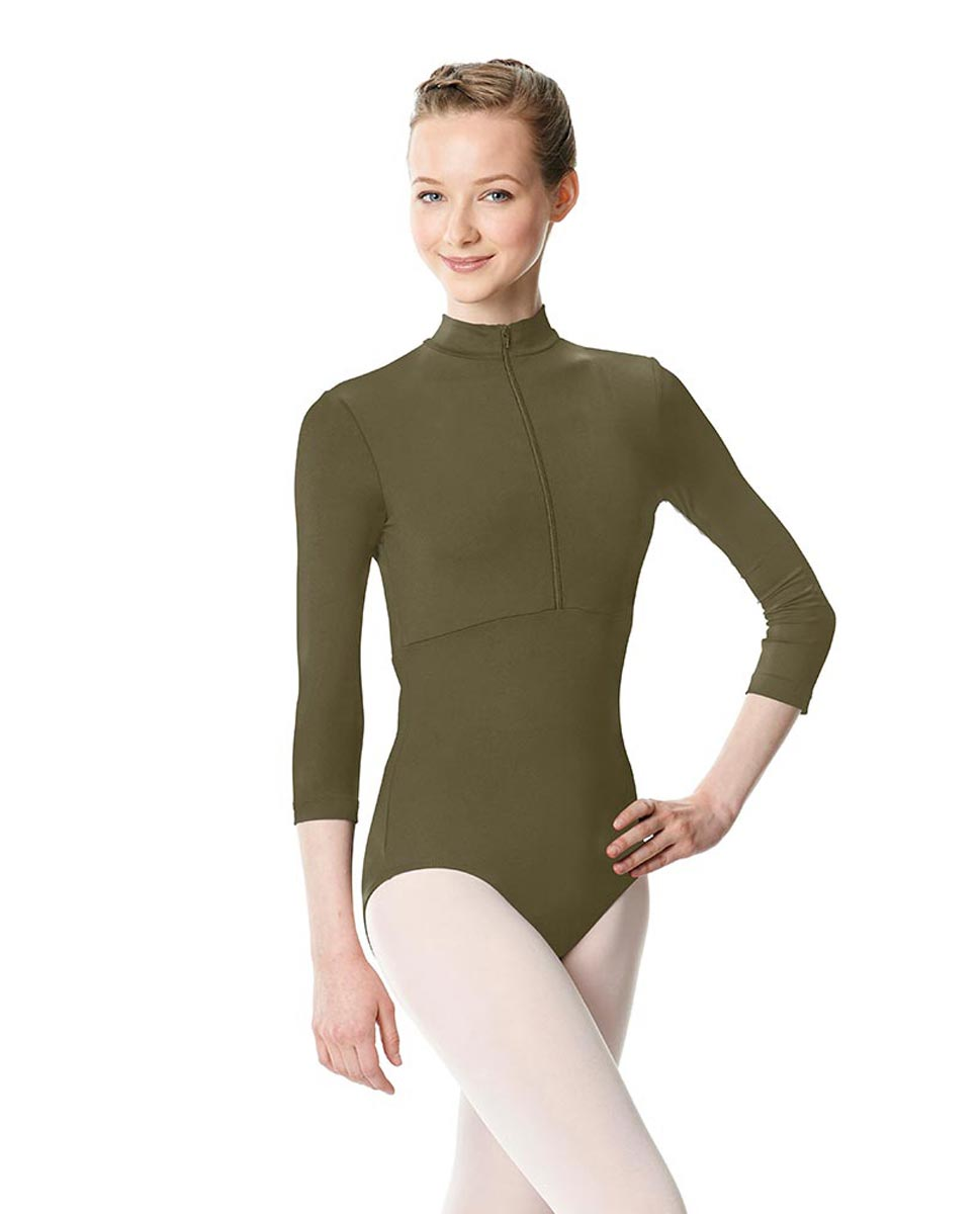 Long Sleeve Zipper Dance Leotard Eliana KHA