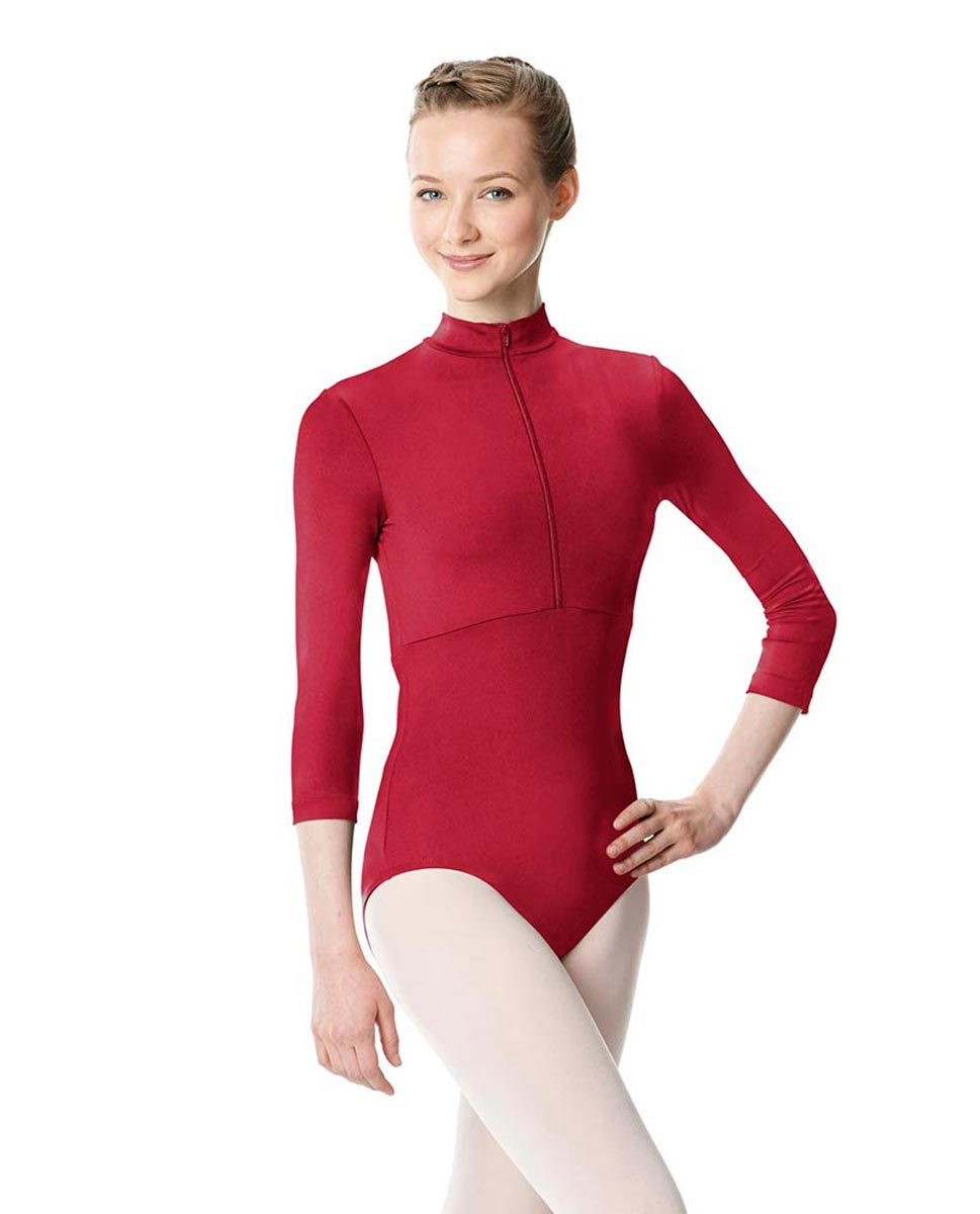 Long Sleeve Zipper Dance Leotard Eliana DRED