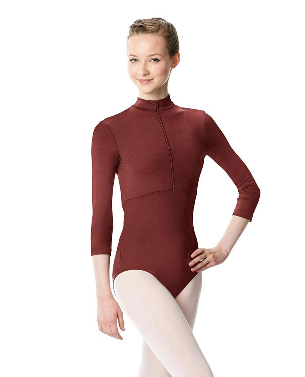 Long Sleeve Zipper Dance Leotard Eliana BUR
