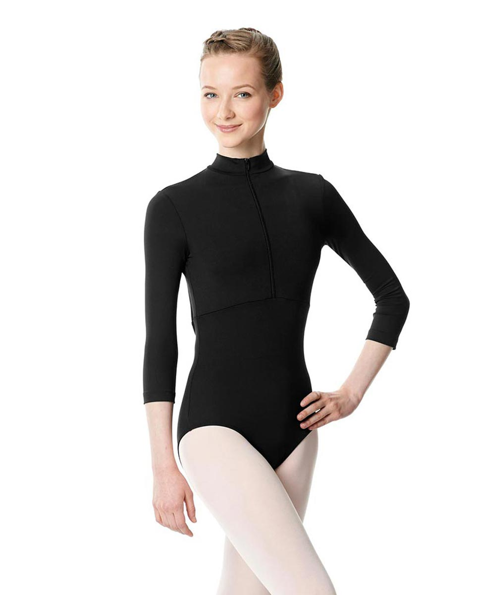 Long Sleeve Zipper Dance Leotard Eliana BLK