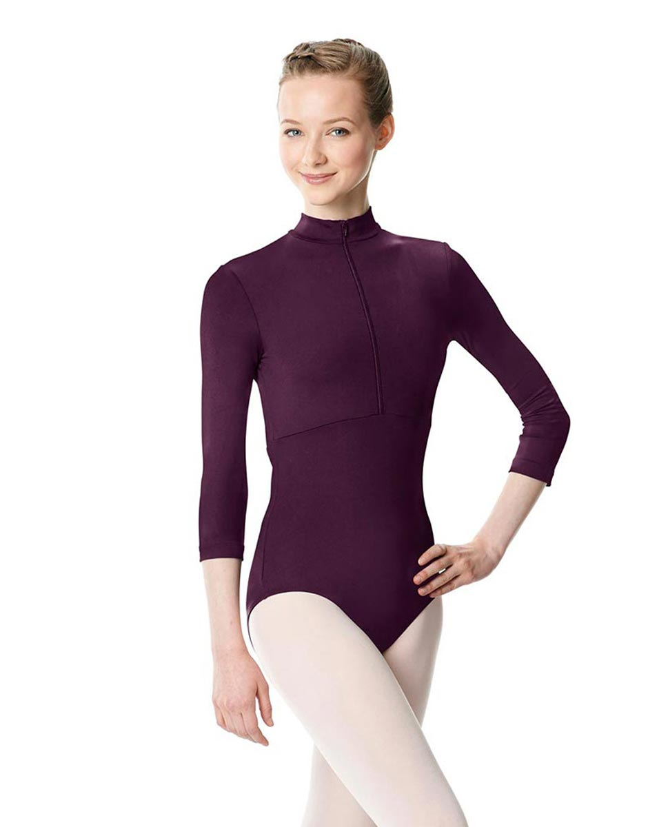 Long Sleeve Zipper Dance Leotard Eliana AUB