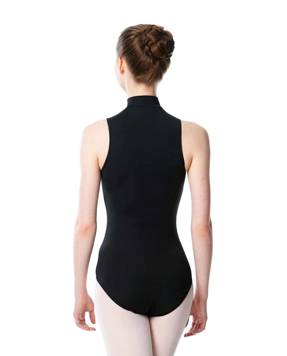 Womens Turtleneck Front Zipper Dance Leotard Leah back