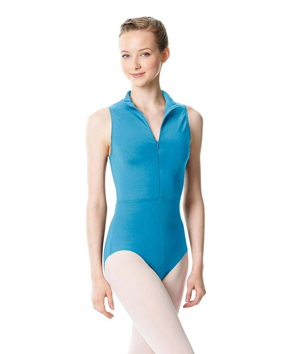 Womens Turtleneck Front Zipper Dance Leotard Leah TUR