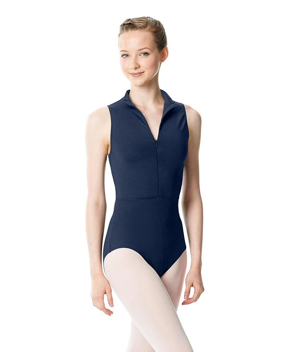 Womens Turtleneck Front Zipper Dance Leotard Leah NAY