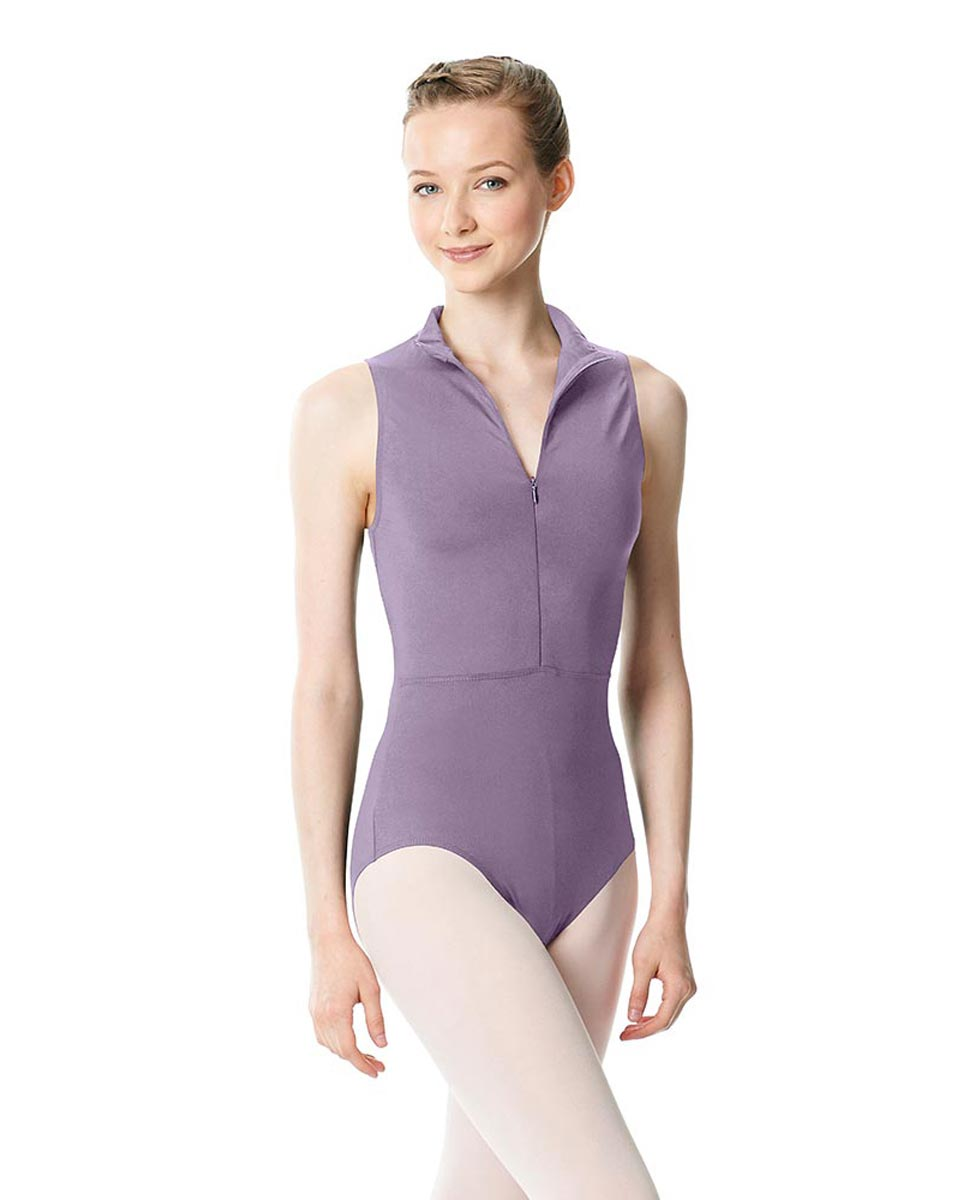 Womens Turtleneck Front Zipper Dance Leotard Leah LAV