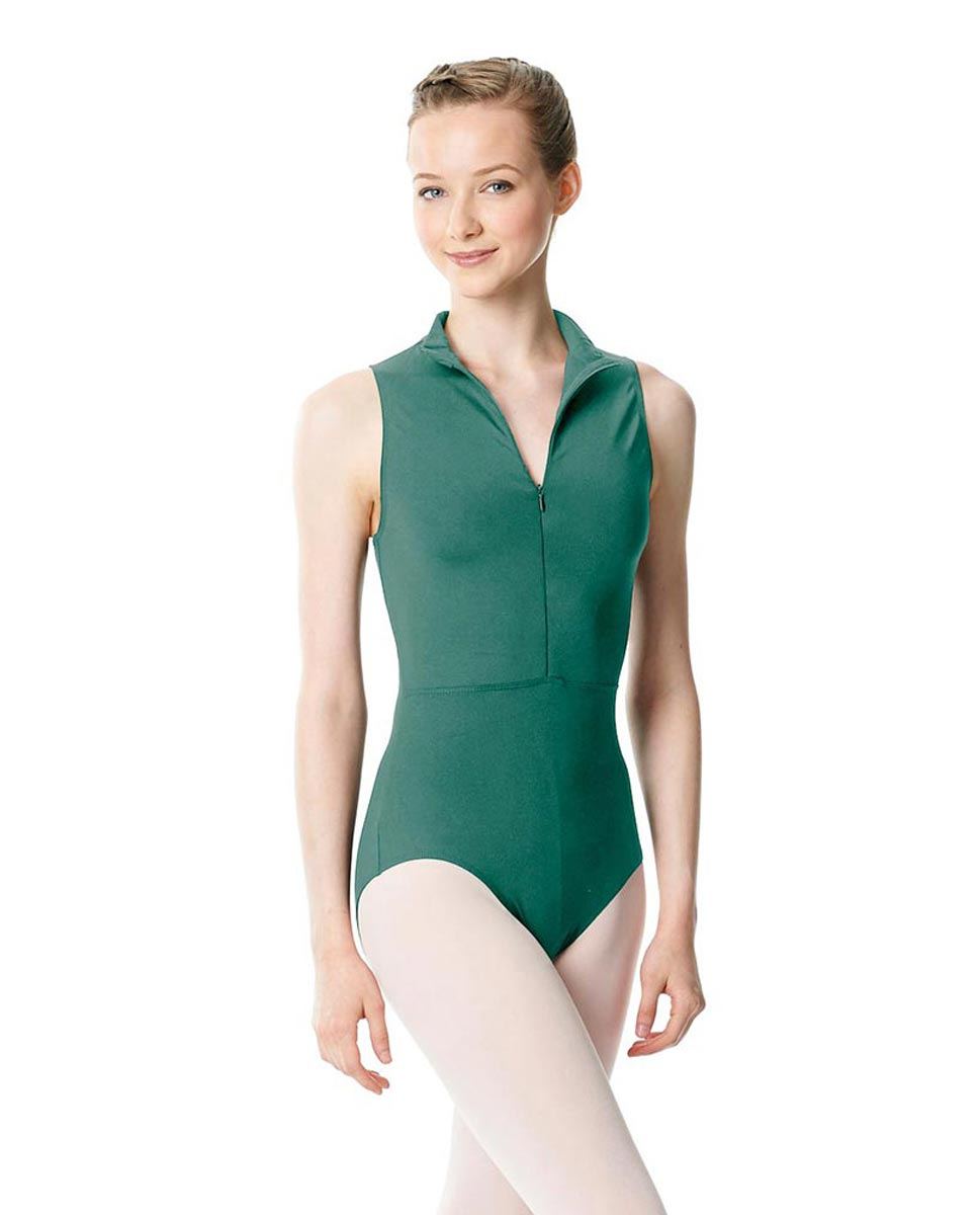 Womens Turtleneck Front Zipper Dance Leotard Leah JAD