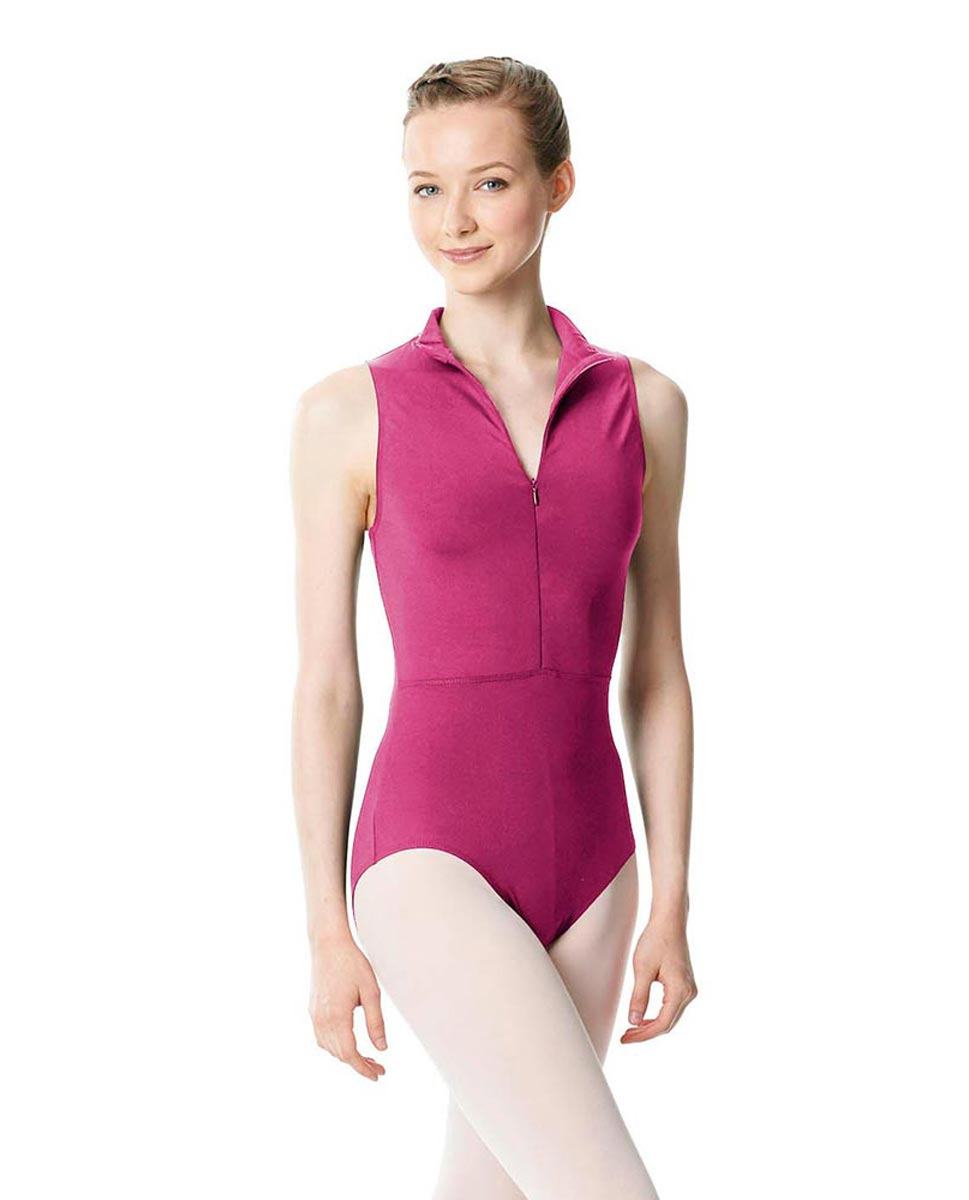 Womens Turtleneck Front Zipper Dance Leotard Leah FUC