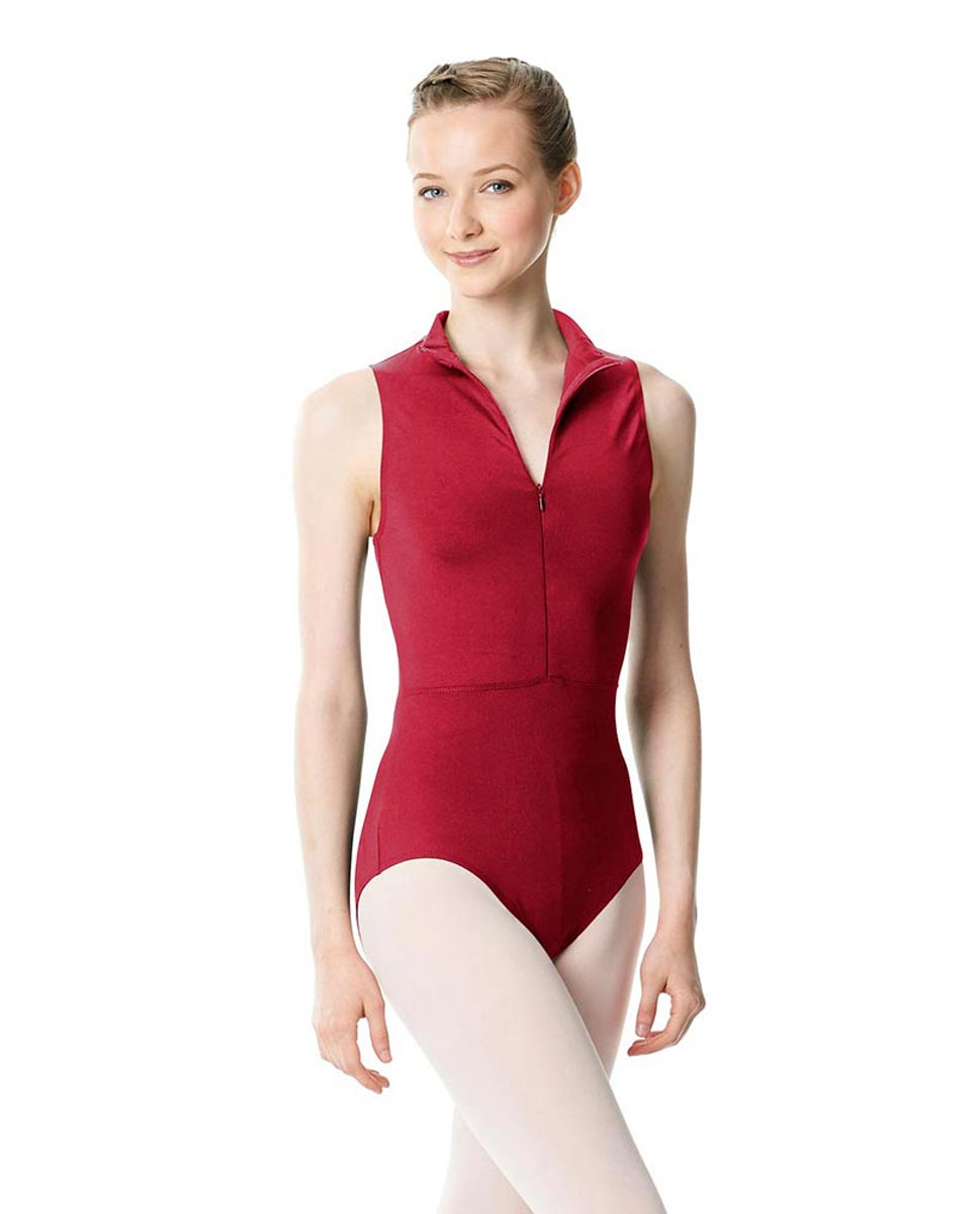 Womens Turtleneck Front Zipper Dance Leotard Leah DRED