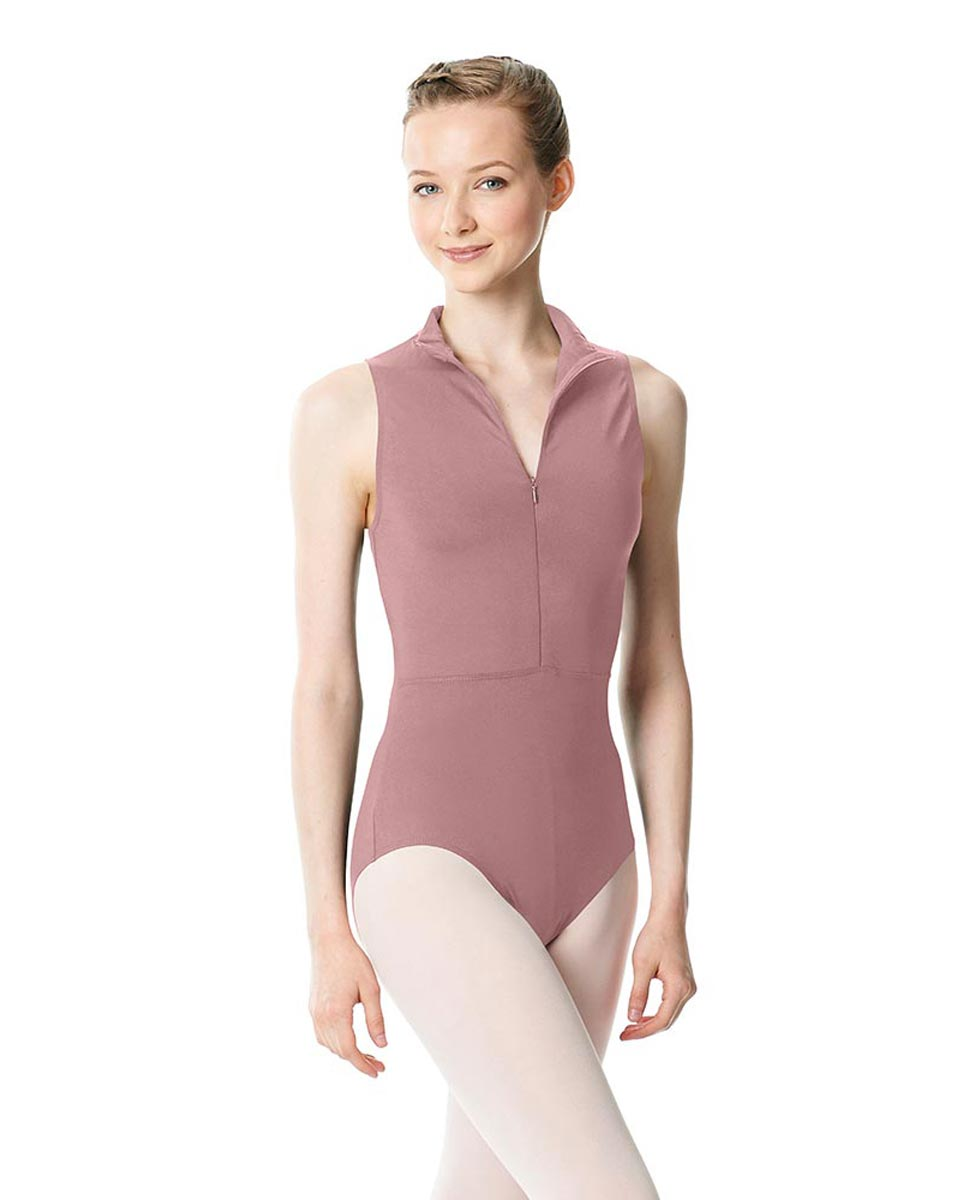 Womens Turtleneck Front Zipper Dance Leotard Leah DROS