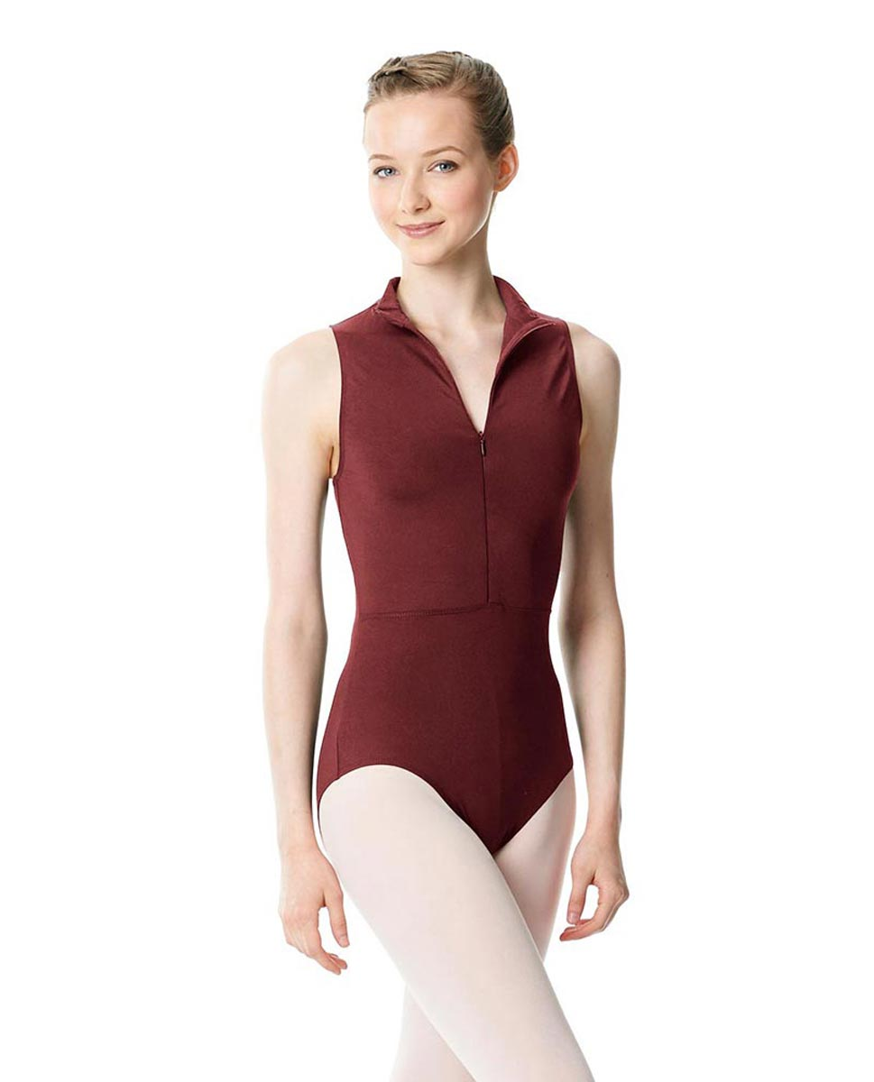 Womens Turtleneck Front Zipper Dance Leotard Leah BUR