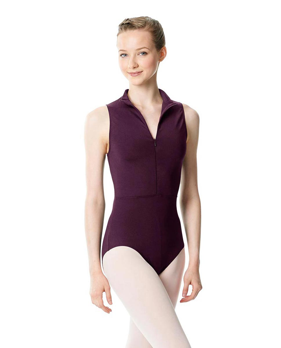 Womens Turtleneck Front Zipper Dance Leotard Leah AUB