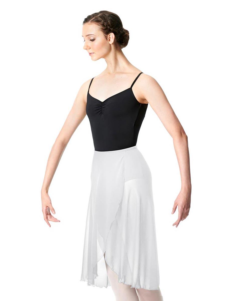 Midi Length Wrap Dance Skirt Addison WHI