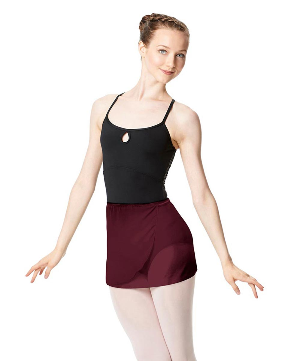 Adult Short Wrap Ballet Skirt Hailey BUR