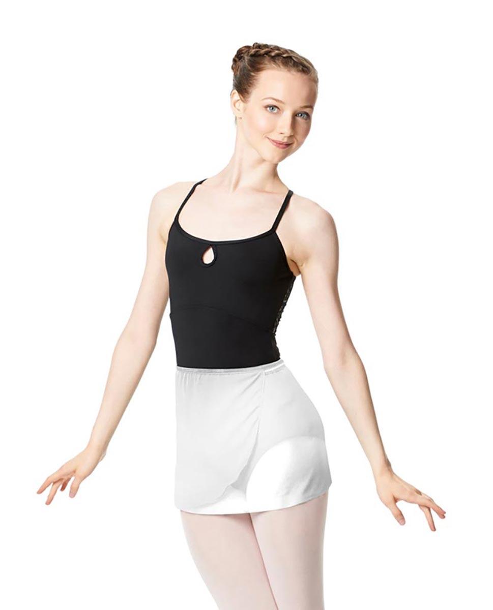 Adult Short Wrap Ballet Skirt Hailey WHI