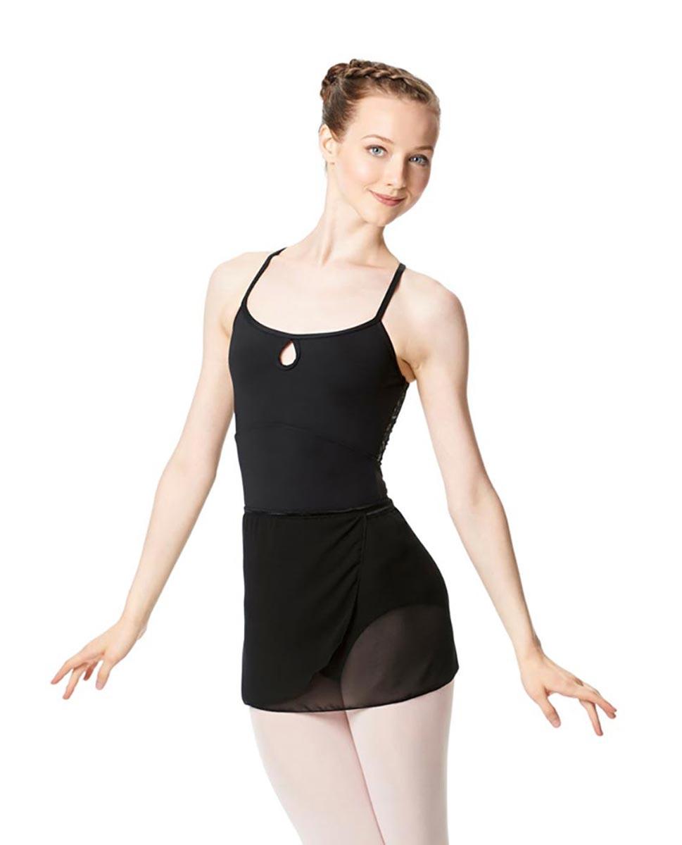 Adult Short Wrap Ballet Skirt Hailey BLK