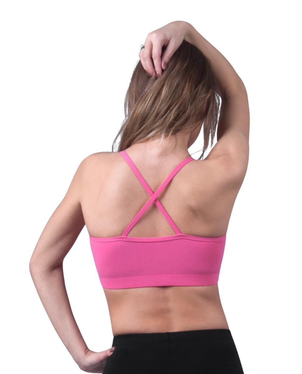 Womens Camisole X-Back Dance Bra Top Evelin back