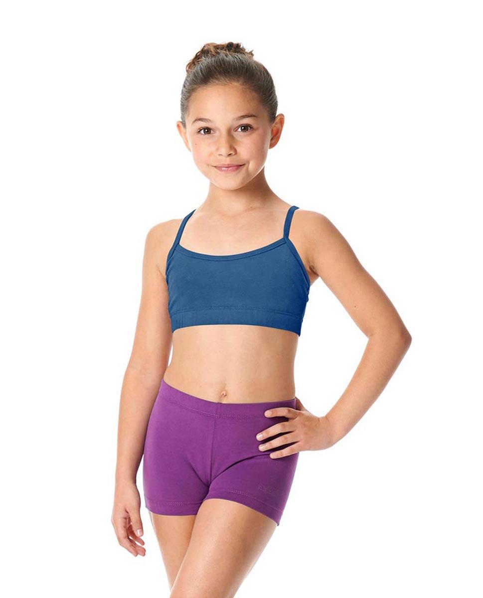 Child Camisole X-Back Dance Bra Top Evelin BLUE