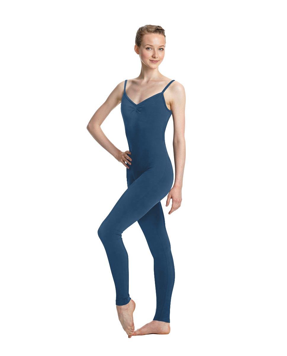 Women X-Back Full Body Dance Unitard Madelyn BLUE