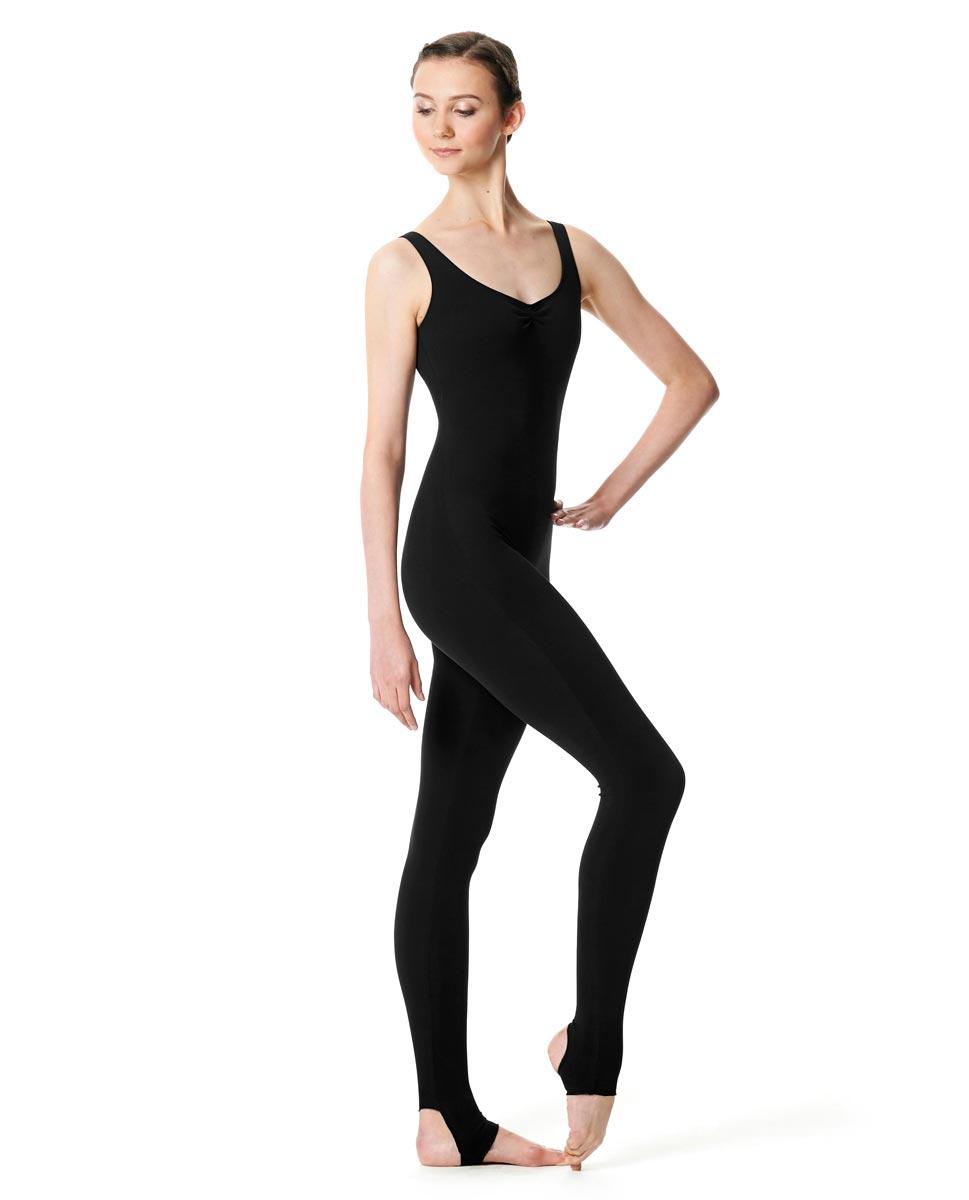 Pinch Front Full Body Dance Unitard Zoe BLK