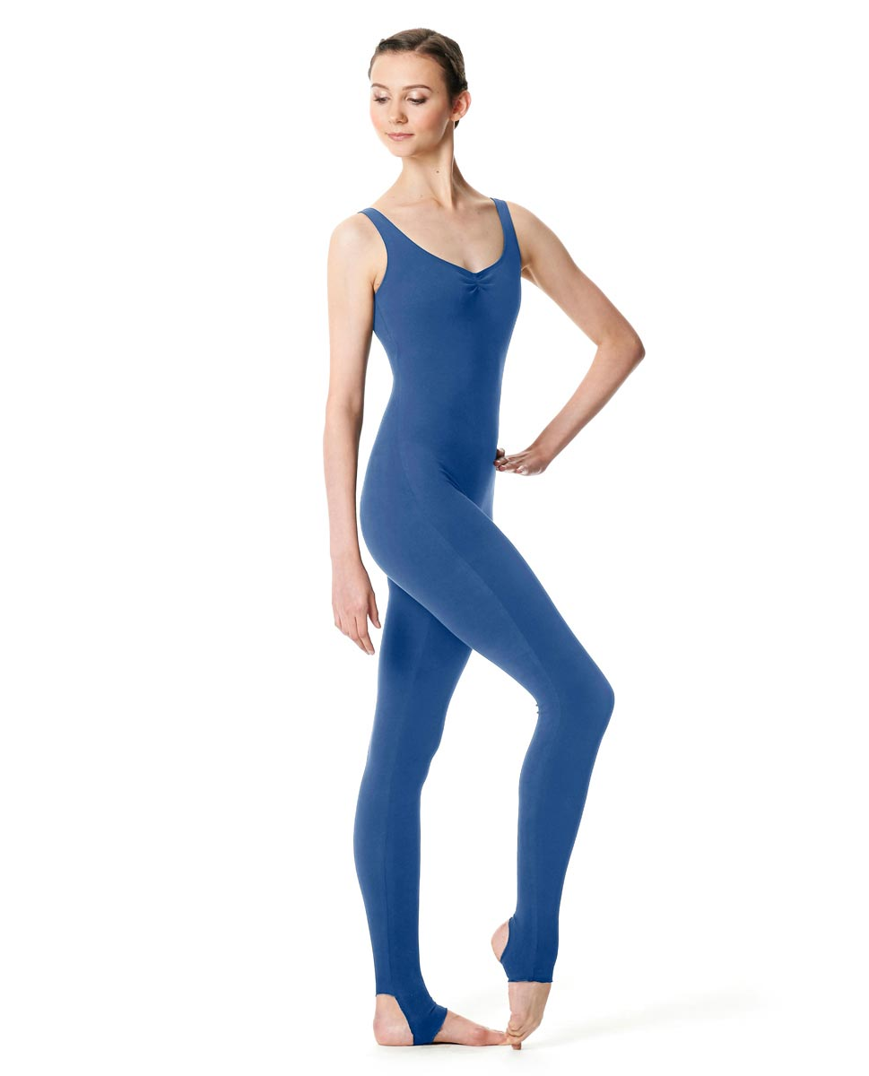 Pinch Front Full Body Dance Unitard Zoe BLUE