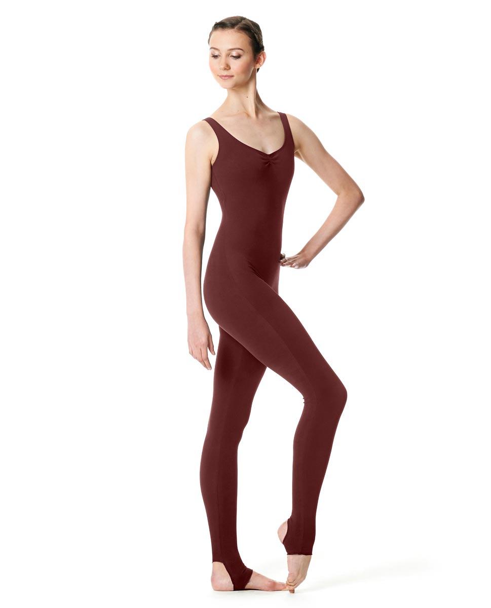 Pinch Front Full Body Dance Unitard Zoe BUR
