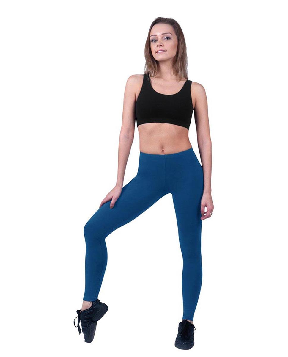 Women Ankle Length Dance Leggings Layla BLUE