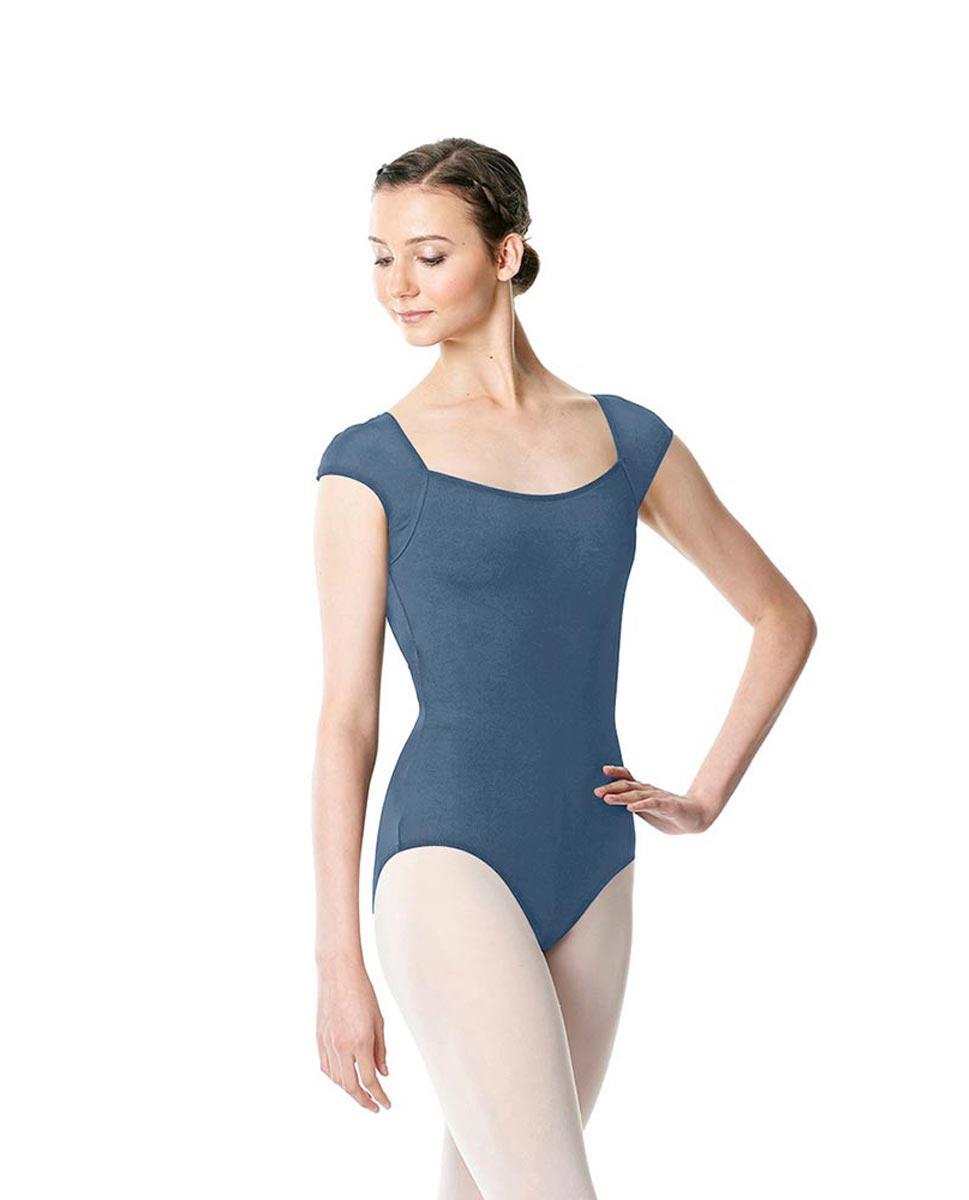 Adult Short Sleeve Dance Leotard Hensely BLUE