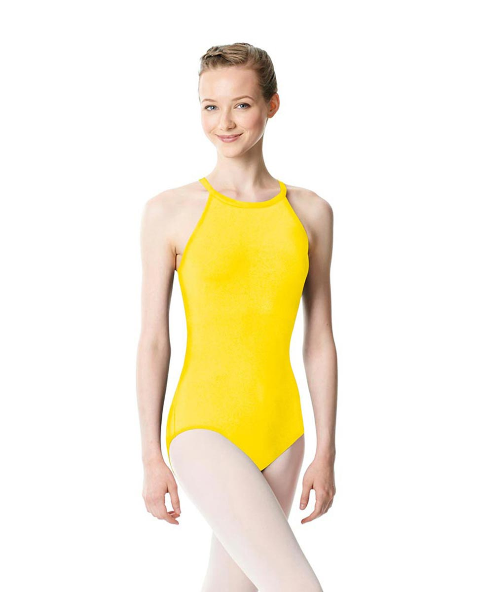 High Neck Tank Dance Leotard Ivana YEL