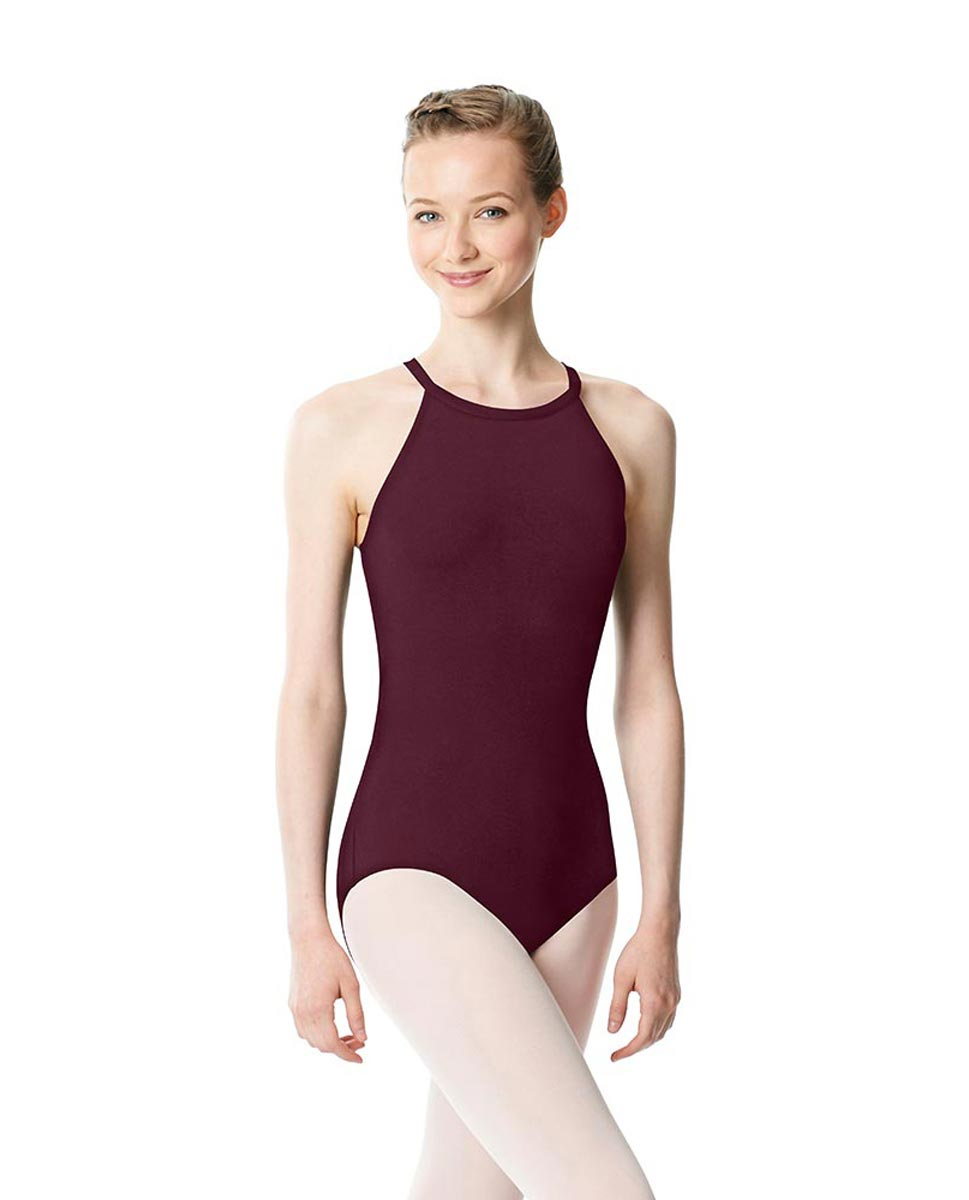 High Neck Tank Dance Leotard Ivana WINE